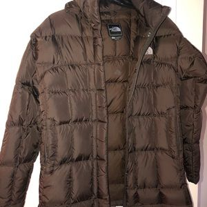 The North Face brown winter coat